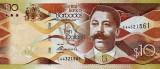 BARBADOS █ bancnota █ 10 Dollars █ 2013 █ P-75 █ UNC █ necirculata