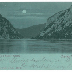 3742 - ORSOVA, Romania, Danube Kazan, Litho - old postcard - used - 1900