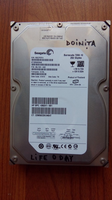 Hard disk Seagate Barracuda 250 GB