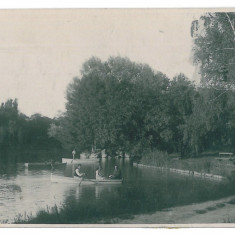 786 - CRAIOVA, Romania, Bibescu Park - old postcard, real PHOTO - used - 1933, Circulata, Fotografie