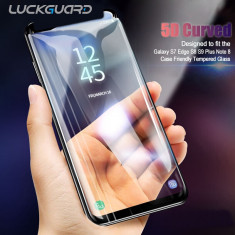 Folie sticla securizata curbata 5D FULL GLUE pt Samsung S9 / S9 plus