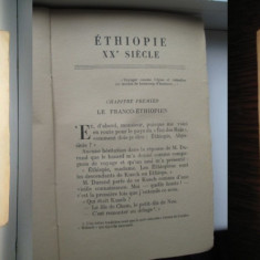 Etiopia in sec 20-Hachette 1934-franceza. Marimi: 19_12 cm. Stare buna.