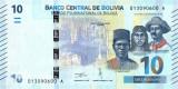 BOLIVIA █ bancnota █ 10 Bolivianos █ 1986 (2018) █ P-248 █ UNC █ necirculata