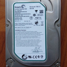 Hard disk Seagate Barracuda 500 GB, slim