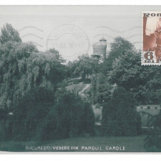 3505 - BUCURESTI, Romania, Park Carol I - old postcard, real Photo - used - 1936, Circulata, Fotografie