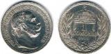 Ungaria 1915 - 1 korona Ag, XF