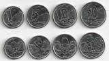 BRAZILIA SET DE MONEDE 1+5+10+50 Centavos 1989-1990  UNC, America Centrala si de Sud