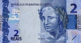 BRAZILIA █ bancnota █ 2 Reais █ 2010 (2013) █ P-252a █ UNC █ necirculata