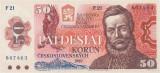 CEHOSLOVACIA █ bancnota █ 50 Korun █ 1987 █ P-96 █ UNC █ necirculata