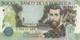 COLUMBIA █ bancnota █ 5000 Pesos █ 2013 █  P-452 █ UNC █ necirculata