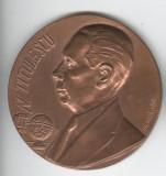 NICOLAE TITULESCU -RECUNOSTINTA pt DEZVOLTAREA RELATIILOR INTERNATIONALE Medalie