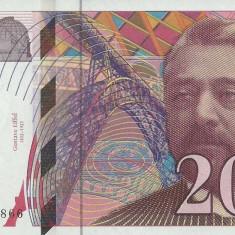 FRANTA █ bancnota █ 200 Francs █ 1996 █ P-159b  █ UNC █ necirculata