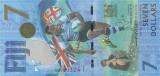 FIJI █ bancnota █ 7 Dollars █ 2017 █ P-120 █ COMEMORATIV █ UNC █ necirculata