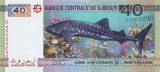 DJIBOUTI █ bancnota █ 40 Francs █ 2017 █ COMEMORATIV █ UNC █ necirculata