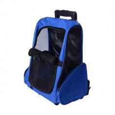 Geanta transport caini, Tip rucsac, Albastra
