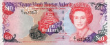 INSULELE CAYMAN █ bancnota █ 10 Dollars █ 2005 █ P-35a █ UNC █ necirculata