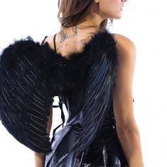 H91B Accesoriu Halloween aripi inger negru