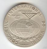 CONCURS INTERNATIONAL DE VINURI ROMANIA 1963  - MEDALIE in SUPERBA stare - RARA