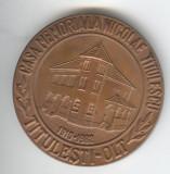 NICOLAE TITULESCU si CASA MEMORIALA  TITULESTI OLT - Medalie RARA
