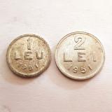 1 LEU 1951+2LEI 1951-ALUMINIU-RPR