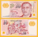 Bancnota Singapore 10 Dolari 2018 - P48l UNC ( polimer )