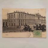 IASI- GARA-CARTE POSTALA CIRCULATA LA 1907, Printata
