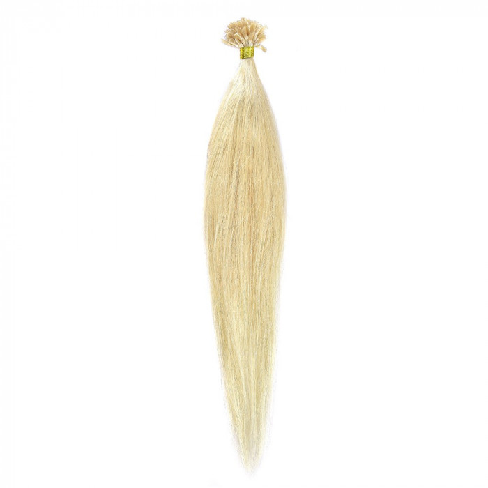 Cheratina Par Natural 50cm 50suv 1gr/suv Blond Ultra Cenusiu #LightSilver foto mare