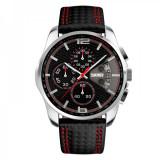Ceas sport cronograf 9106CL, negru, Casual