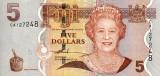 FIJI █ bancnota █ 5 Dollars █ 2007 █ P-110a █ UNC █ necirculata