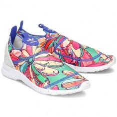 Pantofi Femei Adidas ZX Flux Smooth Slip ON S75686, 36 2/3, 37 1/3, 38, 38 2/3, 39 1/3, 40, 40 2/3, Albastru