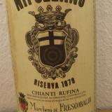 R.22-CHIANTI RUFINA-RISERVA, doc, CASTELLO DI NIPOZZANO RECOL 1979 cl 75 GR 12, Sec, Rosu, Europa