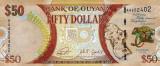 GUYANA █ bancnota █ 50 Dollars █ 2016 █ P-41 █ COMEMORATIV █ UNC █ necirculata