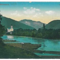 1713 - MARAMURES, Romania, floating logs - old postcard - used - 1917, Circulata, Printata