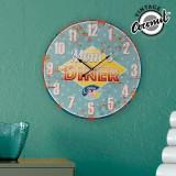 Ceas pentru Perete Mom's Diner Vintage Coconut