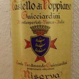 R. 28 - CHIANTI CASTELLO DI POPPIANO GUGGIARDINI, RISERVA. 1983 cl 75 gr 13, Sec, Rosu, Europa