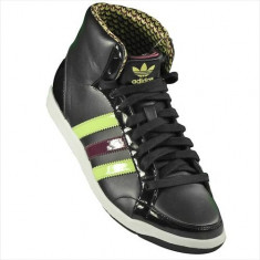 Pantofi Femei Adidas Adi Hoop Mid W G14017, 38, Negru