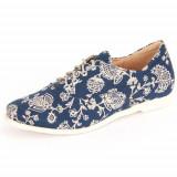 Pantofi Femei Think! Think Shua Blau Kombi Textil Veg Lederfutter 8003694, 39, Bleumarin