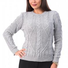BL980-18 Pulover gros tricotat, cu torsade, M