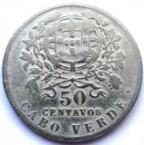 MOKAZIE , CAPUL VERDE , CABO VERDE , COLONIE PORTUGHEZA , 50 CENTAVOS 1930, Africa, Crom