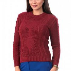 BL981-81 Pulover tricotat, cu maneci lungi si model, S/M