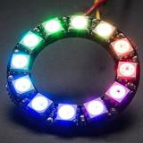 Inel cu 12 LED-uri RGB WS2812 (v.51)