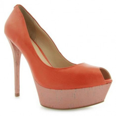 Navete Femei Guess Gabra Spuntato Open Toe Leat Orange FL1GRALEM07ORANGE
