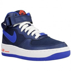 Ghete Copii Nike Air Force 1 Mid GS 314195412, 38, 38.5, Albastru