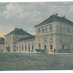 1709 - SATU-MARE, Romania, Railway Station - old postcard - unused, Necirculata, Printata