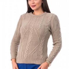 BL980-155 Pulover gros tricotat, cu torsade, M
