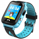 Ceas GPS Copii iUni Kid6, Touchscreen, Telefon incorporat, BT, Camera 2MP, Buton SOS, Rezistent la apa, Albastru MediaTech Power