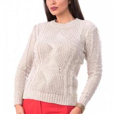 BL981-15 Pulover tricotat, cu maneci lungi si model, S/M