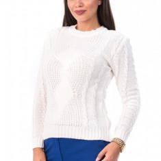 BL981-2 Pulover tricotat, cu maneci lungi si model, S/M