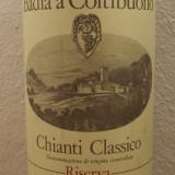 R. 27 - CHIANTI CLASSICO, doc, BADIA A COLTIBUONO, RISERVA. 1983 cl 75 gr 13, Sec, Rosu, Europa