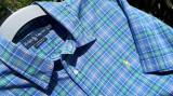 Camasa barbati polo RALPH LAUREN nr.XL originala, Maneca scurta, Albastru, Polo By Ralph Lauren